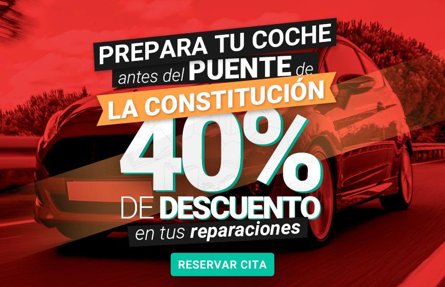 Prepara tu coche para este Puente de la Constitución - 40% de descuento